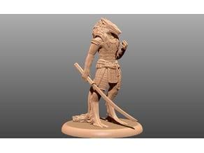 Wolf Samurai - Tabletop Miniature