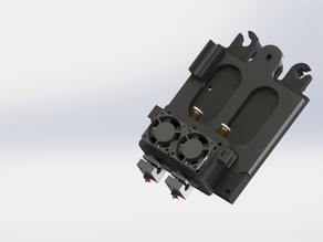 Double E3D v6 mount for TAZ