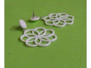 Earrings №5 Rhodonea Relievo