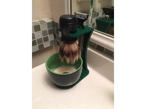 Shaving Brush and Bowl Holder