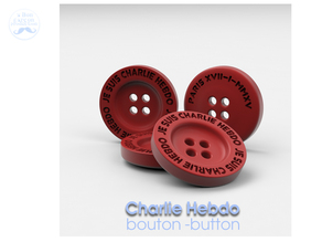 CHARLIE HEBDO BOUTON | COAT BUTTON
