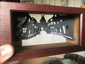 Monkey Island - Melee Island Light Box Diorama