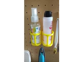 Pegboard small bottle (<⌀42mm) holder
