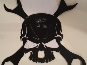 Plasma cut Maker skull Panama