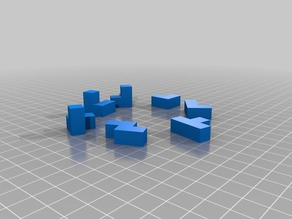 World's Smallest 3D printed Soma Cube Puzzle remix