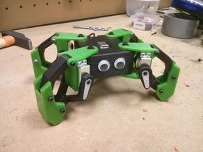 Kame: 8DOF small quadruped robot