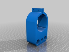 3018 Spindle Holder with 40mm cutout for laser
