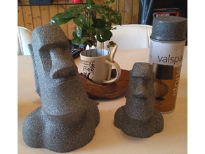 Moai statue -No overhang