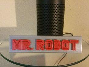 Mr Robot - Name Plate