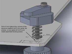 LULZBOT TAZ-4 3D PRINTER platfrom leveling screws