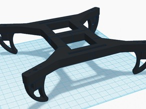 Micro H-Quadcopter by Ukarmy04 (w landing gear) for small print beds 'BEEFCAKE' version