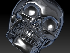 Celtic Skull originally scanned by Artec 3d  - Smooth Version (Celtic designs removed) and other slight modifications by SteelyD