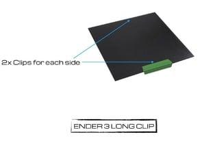 Ender_3 Long Clips Glass Bed *PETG