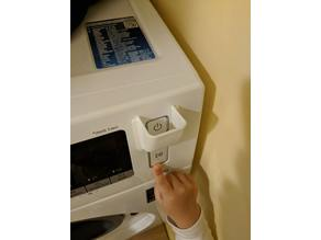 Laundry machine power button protector (child lock)