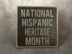 National Hispanic Heritage Month Sign