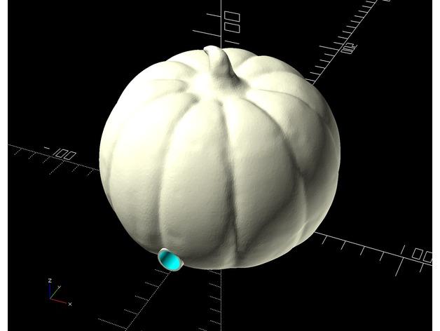 Halloween Pumpkin 3D pir sensor openSCAD