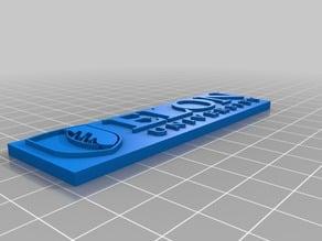 Elon University Name Plate