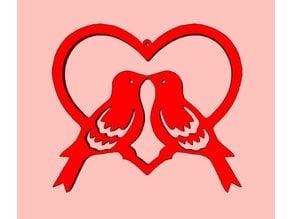 Love Birds in Heart