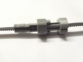 Fully printable adjustable inline GT2 belt tensioner
