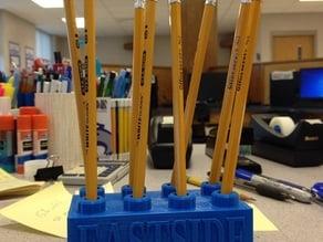 Lego Block Pencil Holder