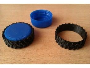 Wheels from PET-bottle caps