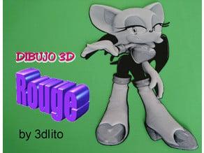 Dibujo 3D Rouge  (sonic)