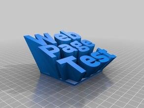 WebPageTest Text Sculpture