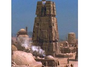Mos Eisley tower and speeder