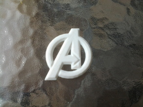 Avengers logo with relief