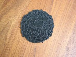 Drink coaster with floor - Voronoi #4