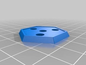 """Hex base with holes for 3/16""""x1/16"""" magnets"""
