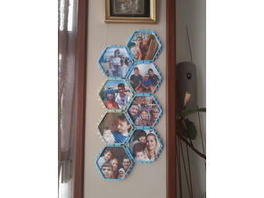 Hex Picture Frame with polypanels connectors