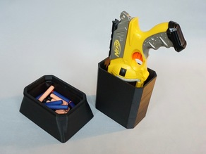Holster stand with ammo box for Nerf N-Strike Maverick revolver