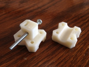 Z Axis Endstop with fine adjustement rod clamp and microswitch holder
