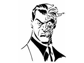 Two face stencil