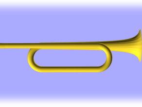 Bb3 natural trumpet (Trompette Si bémol 3 naturelle) same harmonics as a valve trumpet