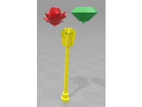 Princess Scepter w/ interchangable caps (Rose and Emerald)