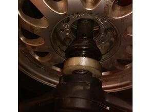 Spacer ring for wheel balancer