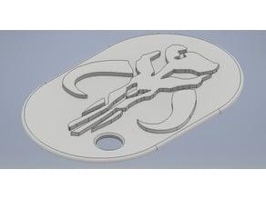 Boba Fett Logo Dog Tag