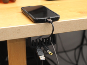 Under the desk cable holder / manager / organizer