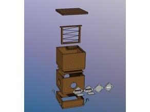 3D Printable 1/2 Width Langstroth Bee Box
