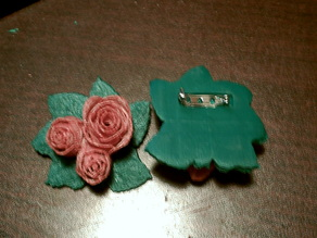 Valentines Day Rose Broach/Pin