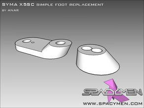 SYMA X5SC simple foot replacement