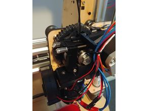 Greg's Wade's Accessible Extruder (based on 5th gen modded with quick release washer and wire management)
