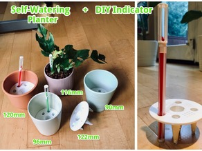 Self-watering planter with indicator