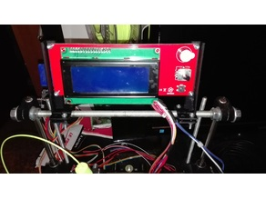 """RAMPS """"LCD & SD-Card reader"""" M8 rod mount"""