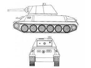 Škoda T-25 siluet