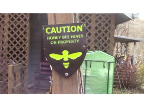 Caution Honeybee sign