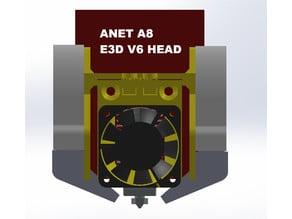 Anet A8 Modular E3D V6 (Volcano) Bowden Print Head