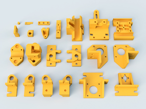 HyperCube Evolution Parts in Fusion 360